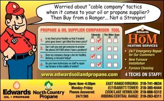 Propane & Oil Supplier Comparison Tool