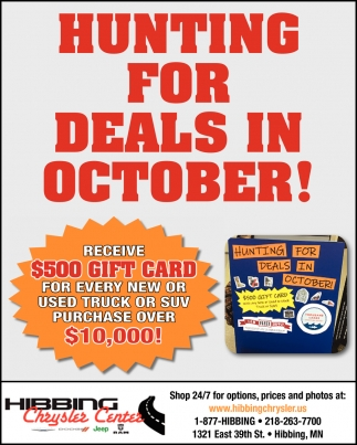 Hunting For Deals In October!