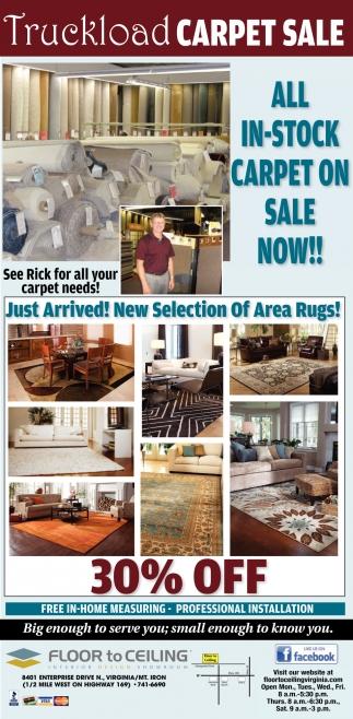Truckload Carpet Sale