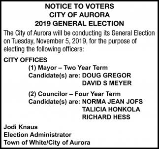 Notice To Voters