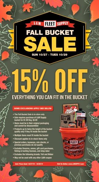 Fall Bucket Sale