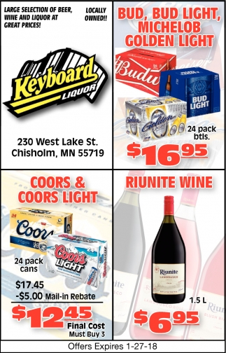 Large Selection Of Beer, Wine And Liquor At Great Prices, Keyboard