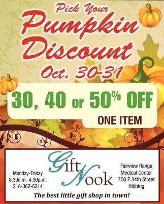 Pick Your Pumpkin Discount