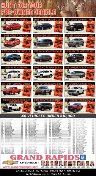 Hunt For Your Pre-Owned Vehicle