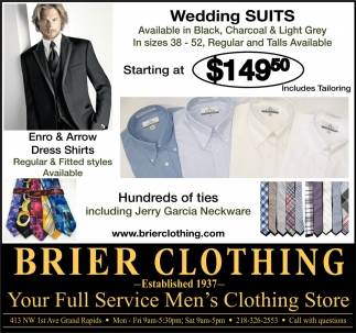 Your Full Service Mens Clothing Store Brier Clothing