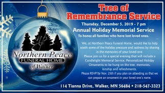 Tree Of Remembrance Service