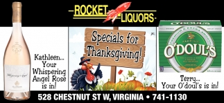 Specials For Thanksgiving!