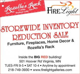 Storewide Inventory Reduction Sale