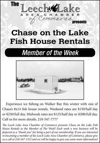 Chase On The Lake Fish House Rentals