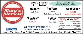 $7.00 Breakfast Feature