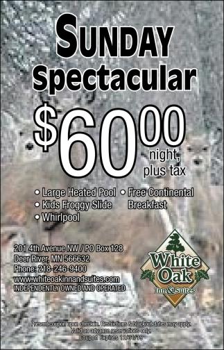 Sunday Spectacular $60.00