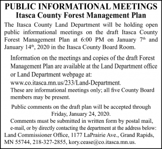 Public Information Meetings