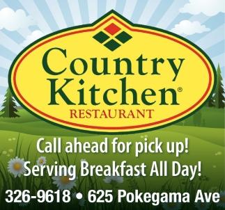 Serving breakfast all day country kitchen restaurant