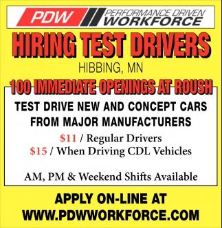 Hiring Test Drivers Performance Driven Workforce