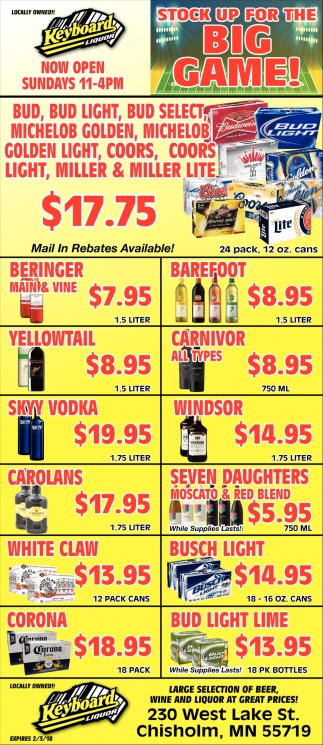 Large Selection Of Beer, Wine And Liquor At Great Prices