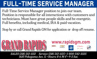 Full-Time Service Manager