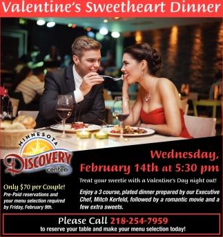 Valentine's Sweetheart Dinner