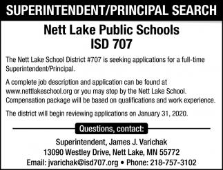 Superintendent/Principal Search