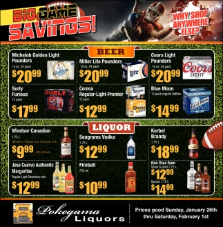 Big Game Savings!