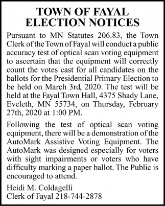 Election Notices