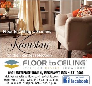 Floor To Celling Welcomes Karastan