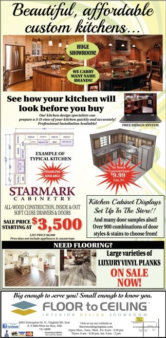 Beautiful, Affordable Custom Kitchens...