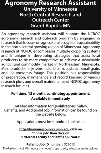 Agronomy Research Assistant