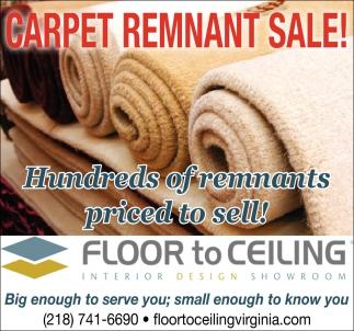 Carpet Remmant Sale!