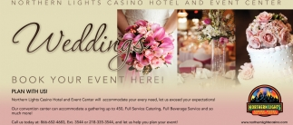 Weddings, Northern Lights Casino Hotel And Event Center, Walker, MN