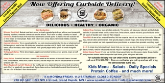 Now Offering Curbside Delivery!