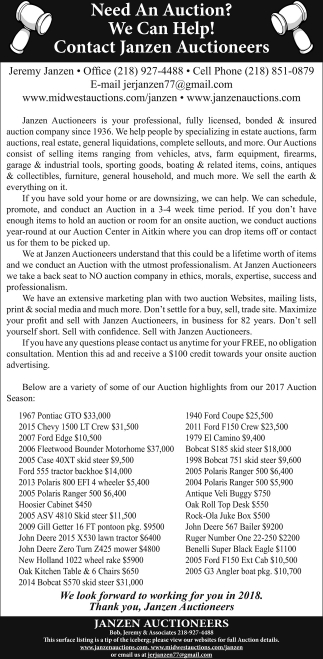 Need An Auction?