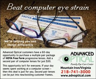 Beat Computer Eye Strain