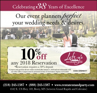 Celebrating 38 Years Of Excellence, Lefty's Tent & Party