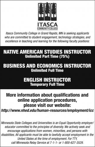 Seeking Applicants