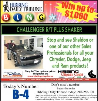 Challenger R/T Plus Shaker