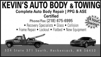 Complete Auto Body Repair, Kevin\'s Auto Body & Towing, Hackensack, MN