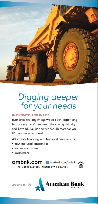 Digging Deeper For Your Needs