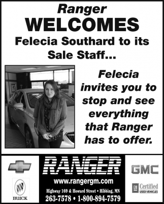 Ranger Welcomes Felicia