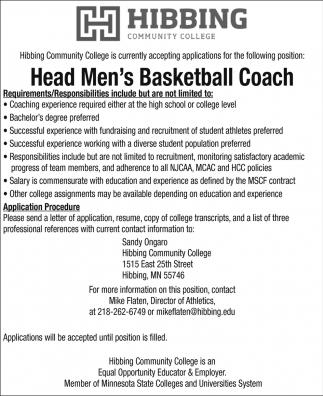 Head Men's Basketball Coach