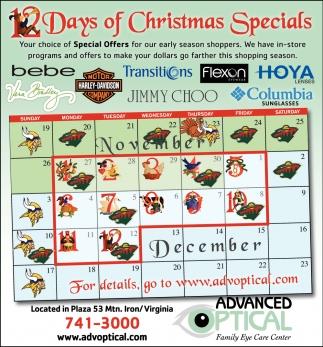 Days Of Christmas Specials