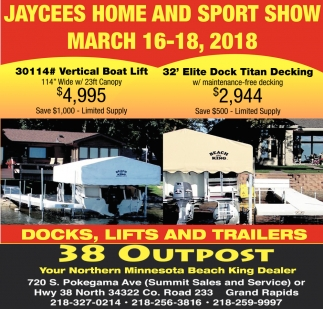 Jaycees Home And Sport Show March 16-18, 2018, Beach King