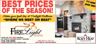 Best Prices Of The Season!