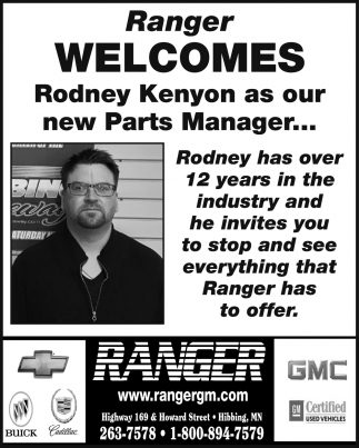 Ranger Welcomes