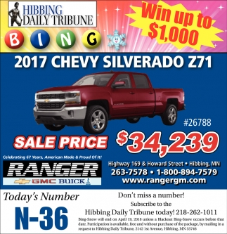 2017 Chevy Silverado Z71
