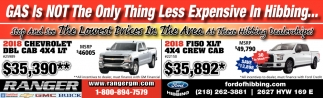 Gas Is Not The Only Think Less Expensive In Hibbing Ford Of