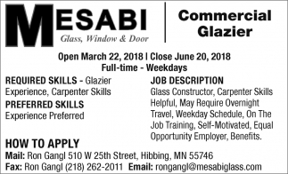 Commercial Glazier
