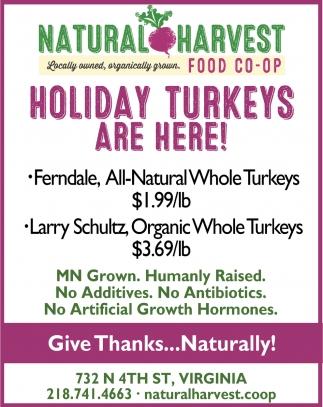 Holiday Turkeys Are Here!