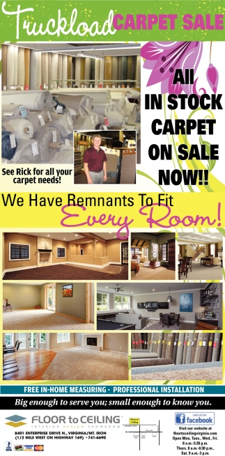 All In Stock Carpet On Sale Now!!