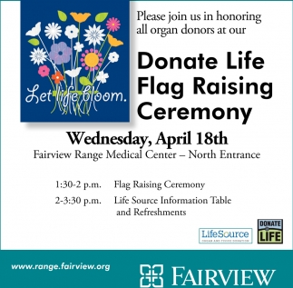 Donate Life Flag Raising Ceremony