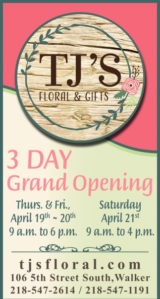 3 Day Grand Opening